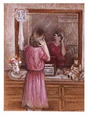 Painting of Reflections in a Mirror