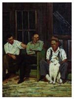 Three Men on a Porch